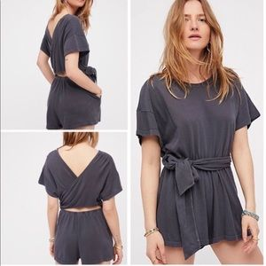 Free People Easy street wrapped romper